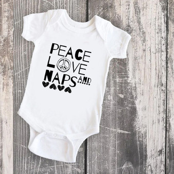 Peace, Love & Naps Infant Bodysuit