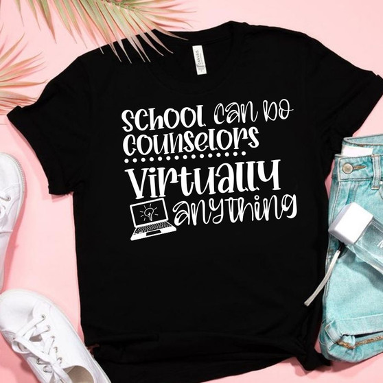School Counselors Can Do Virtually Anything Socially Distancing Unisex Tee