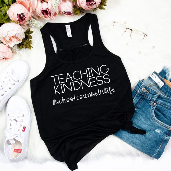 Teaching Kindness Woman's Racerback Tank
