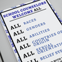 CASC  School Counselors Welcome All Poster