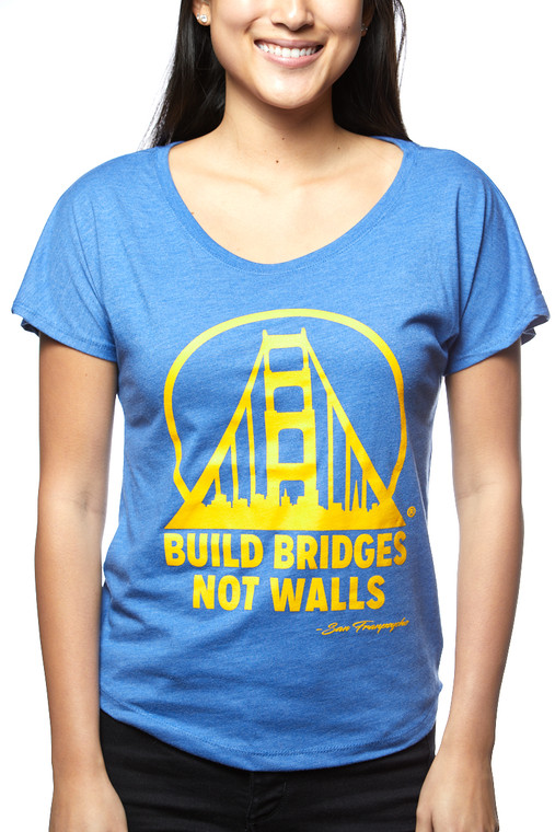 Build Bridges Not Walls Blue & Gold Dolman