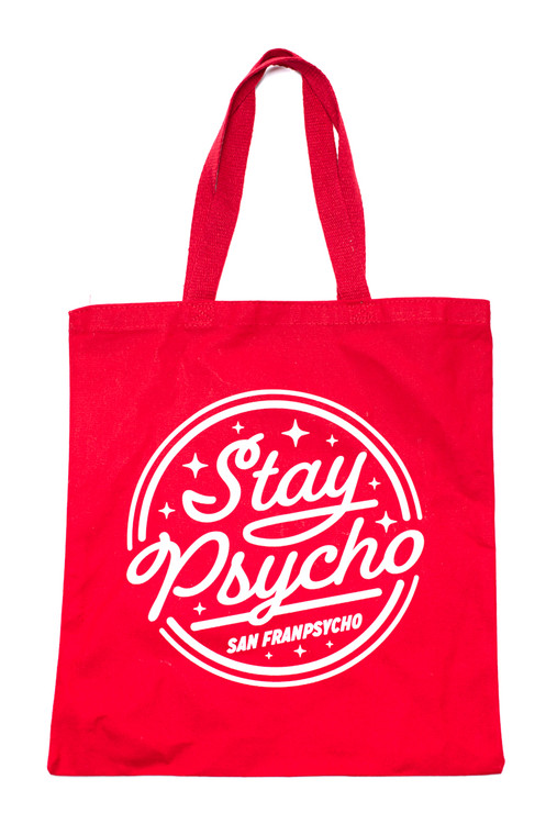 Stay Psycho Red Tote Bag