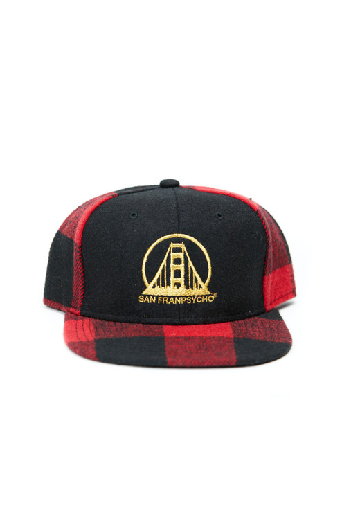 Red Plaid Hat w/ Gold SFP Logo