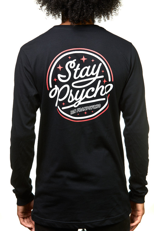 Stay Psycho Black/Red Long Sleeve