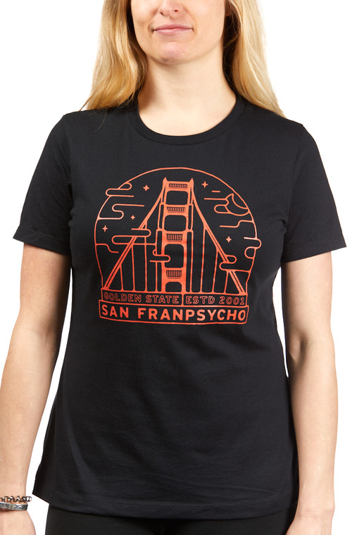 Women's Black Fogtown Tee