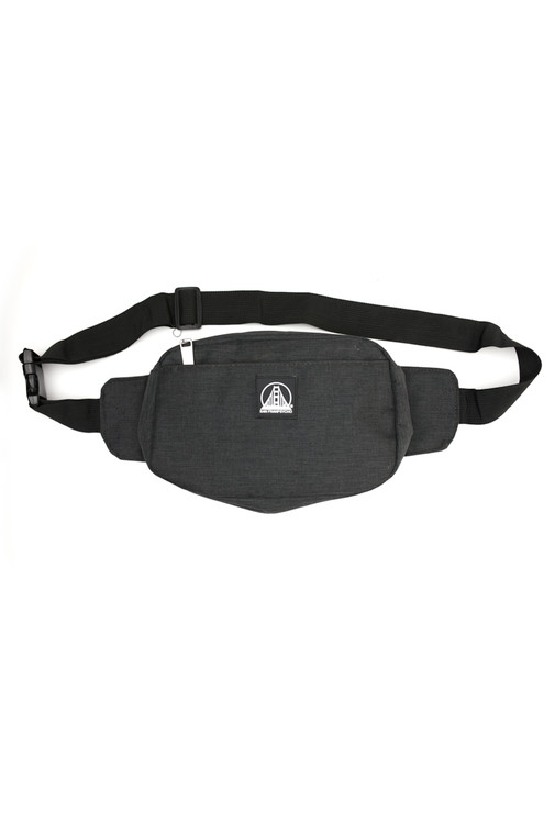Charcoal Sling Bag with Black/White Logo Patch