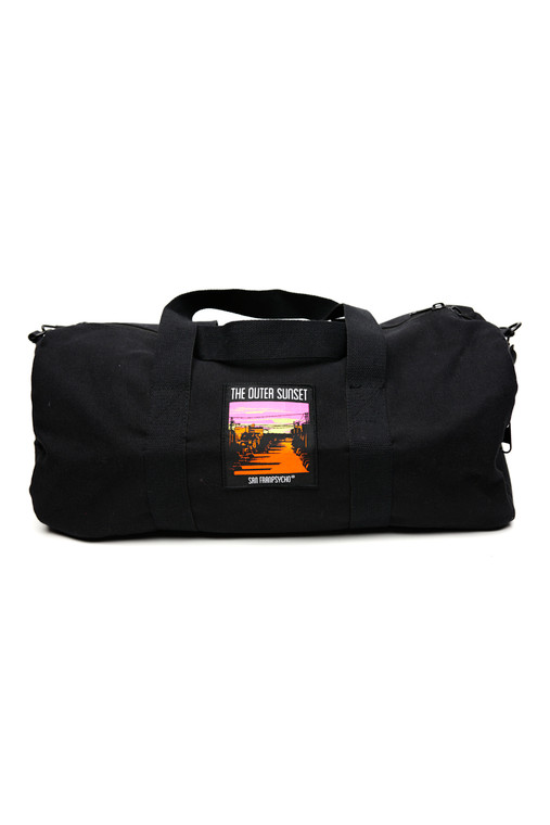 Black Canvas Duffle w/Outer Sunset Patch