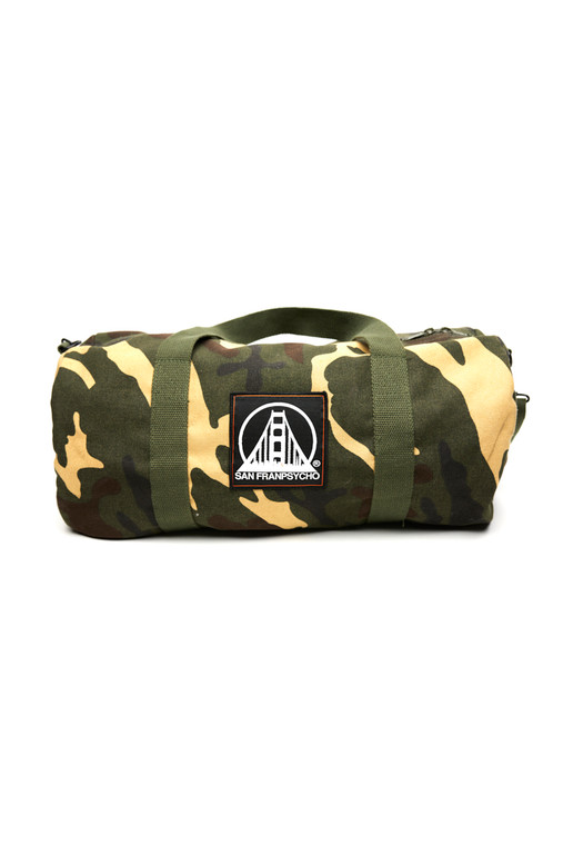 Small Camo Duffle w/ Black/White Logo Patch
