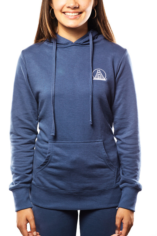 Women's Ocean Blue Embroidered Logo Hoodie