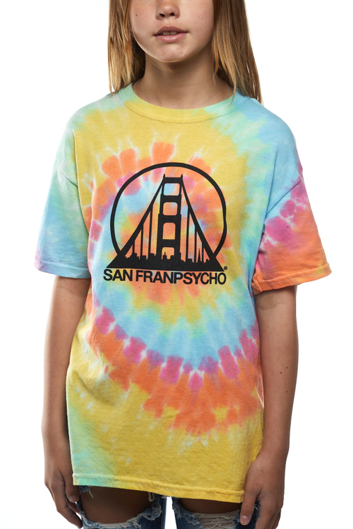 Youth Tie Dye Tee w/ Black Logo