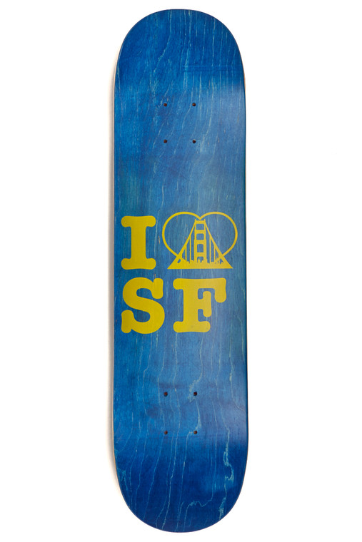 Blue/Yellow I <3 SF Logo Skate Deck