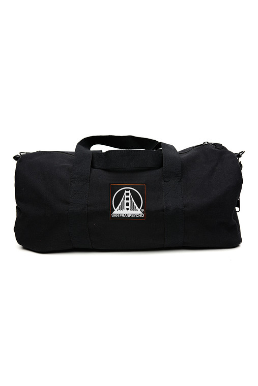 Small Black Canvas Duffle Bag