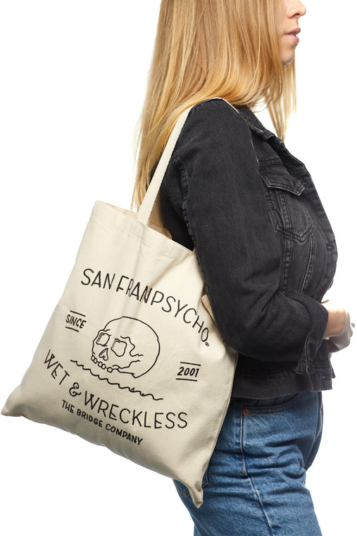 Canvas Wet & Wreckless Tote Bag