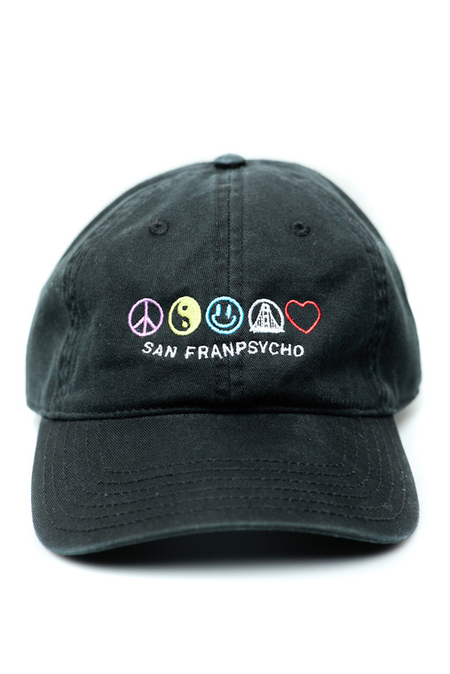 Black Good Vibes Embroidered Dad Hat