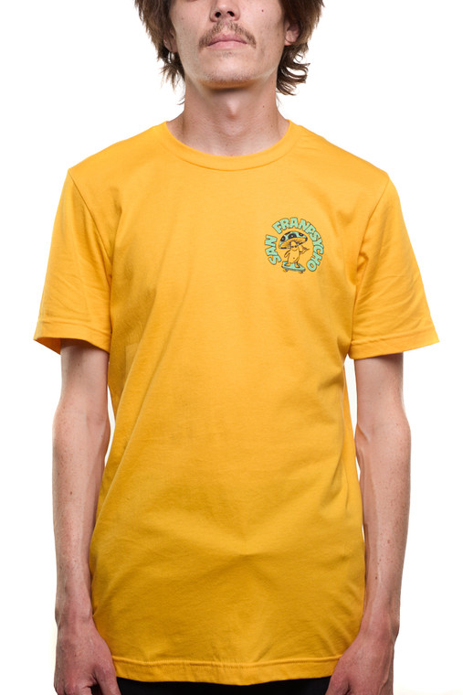 Yellow Ride It Out Mushroom Tee