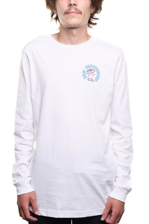 White Ride It Out Mushroom Long Sleeve