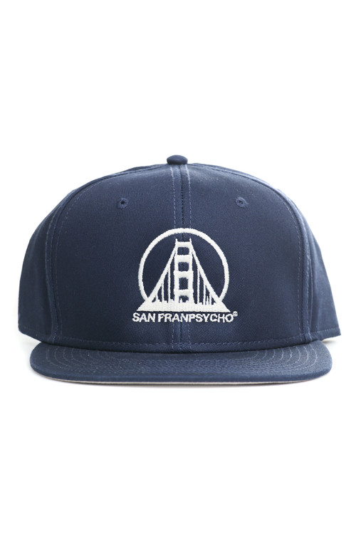 Navy & White Embroidered Logo Hat