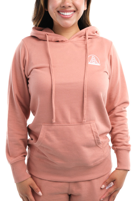 Women's Dusty Pink Embroidered Logo Hoodie