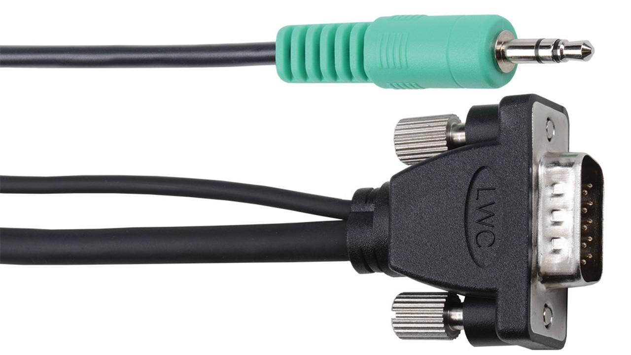 LIBERTY WIRE /& CABLE E-MVGAMAM-M-12 12 ft VGA EDID Compliant Cable w// PC Stereo