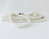 "40'- 3/4""  Eight Plait Nylon Dock Line with eye - White."
