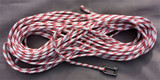 110' - 11mm Yacht Braid pre-made halyard w/ key pin shackle