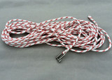 140' - 11mm Yacht Braid pre-made halyard w/ key pin shackle