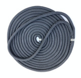 "5 X 25'- 12mm (1/2"") spliced double braid Nylon Dock Line - Black."