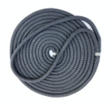 5 X 35'- 16mm, 35', spliced double braid Nylon Dock Line - Black.