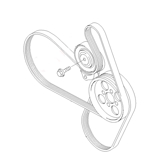 AUX drive belts Mondeo XR5 Turbo