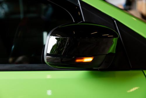 Black LED mirror sequential indicators