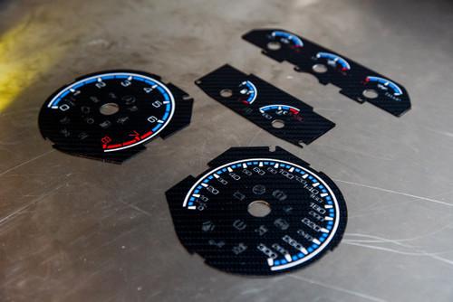 Focus RS mk3 carbon fiber gauge kit