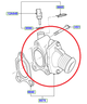 Thermostat & housing XR5 Turbo & RS mk2