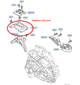 Hard Race gearbox mount Focus XR5 & RS mk2