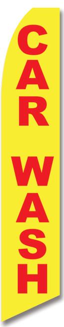 Swooper Flag - Yellow Carwash