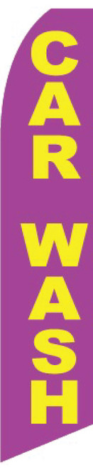 Swooper Flag - Purple Carwash