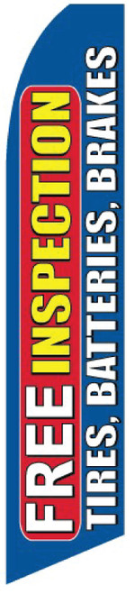 Swooper Flag - Blue Free Inspection Tires Batteries Brakes