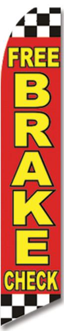 Swooper Flag - Red Checkered Free Brake Check