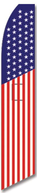 Swooper Flag - Red White Blue American Flag Super