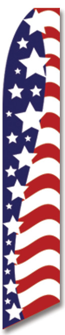 Swooper Flag - Red White Blue American Glory Super