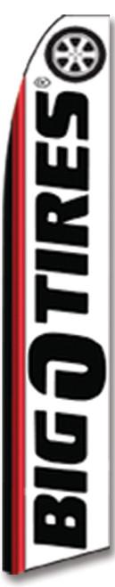 Swooper Flag - Black Red White Bigotires