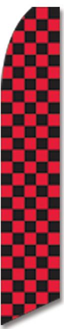 Swooper Flag - Red Black Checkered