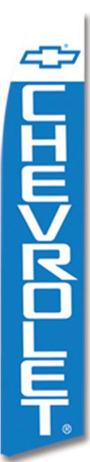 Swooper Flag - White Blue Logo Chevrolet