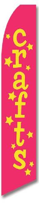 Swooper Flag - Magenta Crafts Stars