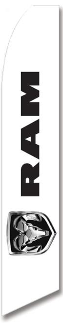 Swooper Flag - White Ram Logo