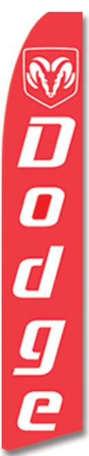 Swooper Flag - Red Dodge Logo