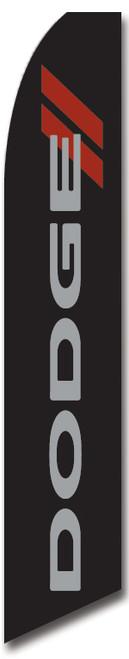 Swooper Flag - Black Dodge Stripes