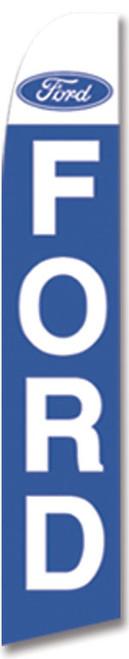 Swooper Flag - White Blue Ford Logo