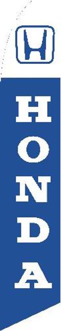 Swooper Flag - White Blue Honda Logo