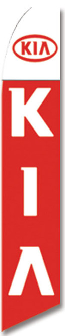 Swooper Flag - White Red Kia Logo