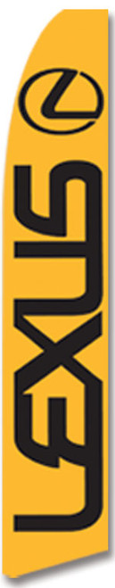 Swooper Flag - Orange Lexus Logo